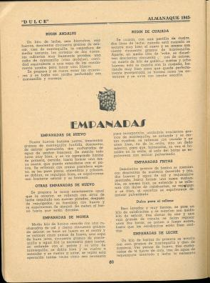 Almanaque Dulce 1945. Unión Nacional de Productores de Azúcar (Mexico). UTSA Libraries Special Collections.