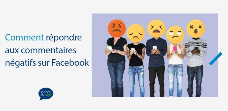 Comment répondre aux commentaires négatifs sur Facebook