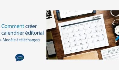 calendrier éditorial marketing de contenu