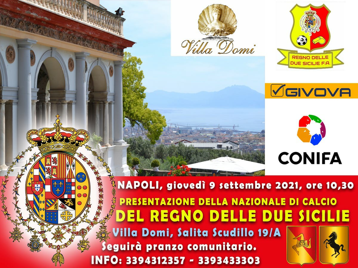 Conferenza di presentazione delle nuove maglie del Regno delle due Sicilie