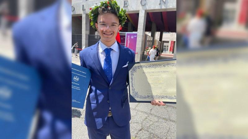 E' di Ardore il più giovane Ingegnere laureato al Politecnico di Torino