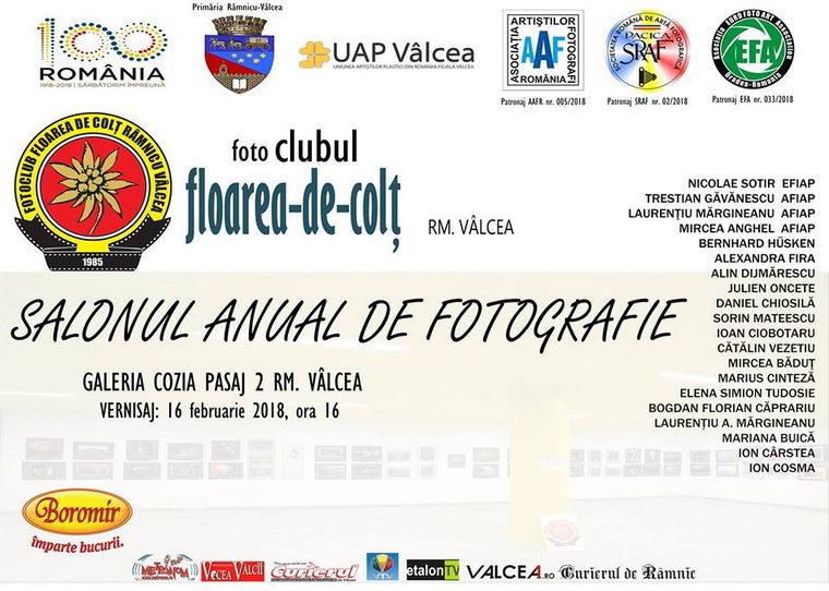 Vernisajul Salonului Anual de Fotografie al Fotoclubului Floarea De Colț Rm. Vâlcea.