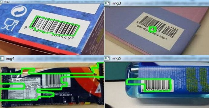 Barcodes detection on the other images