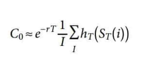 Formula 4: Monte Carlo Simulation Estimator for European Call Function