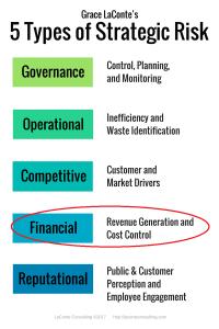 5 Types of Strategic Risk vertical list - Financial