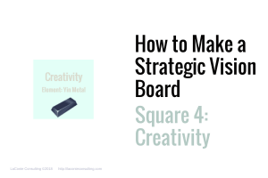 Strategic Vision Board, Strategic Vision, Strategic Planning, Vision Board, Vision boarding, yin and yang, basic element, yin metal, creativity, innovation