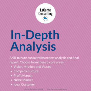 strategic analysis, strategic risk, risk assessment, strategic consultation, strategic analysis, vision and mission, company culture, profit margin, niche market, ideal customer