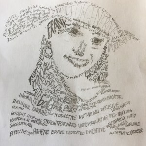 word art, art project, self portrait, self analysis, creative drawing