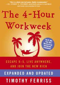 4-Hour Workweek, 4-Hour Work Week, 4 Hour Workweek, 4 Hour Work Week, Tim Ferris, Tim Ferriss, Timothy Ferris, Timothy Ferriss, new rich, escape the 9 to 5