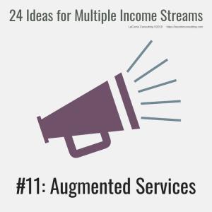 multiple income, multiple income streams, augmented services, profit, profit margins, income streams, profit streams, strategic risk, strategic marketing, marketing