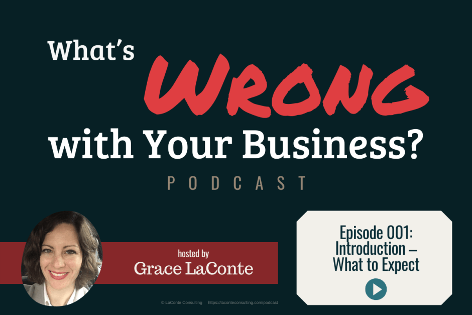 """What's Wrong with Your Business"" podcast with Grace LaConte Episode 1, Introduction What to Expect"