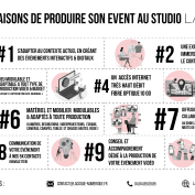 10 bonnes raisons de faire son événement au Studio TV La Coque !