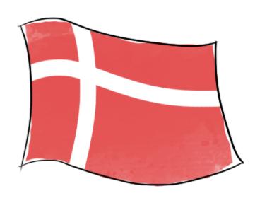 drapeau danois dessin