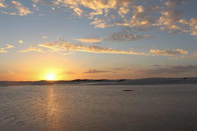 lencois maranhenses coucher de soleil