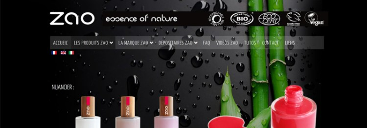 vernis vegan et naturel zao