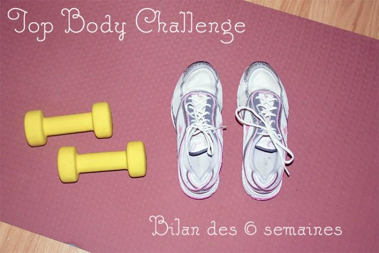avis sur le top body challenge semaine 6