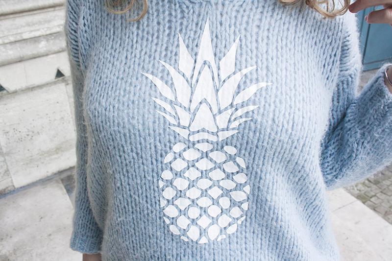 pull ananas bleu