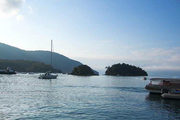 ilha grande vue bateaux