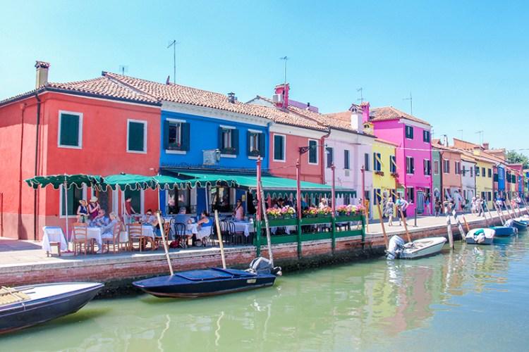 burano venise maisons colorées