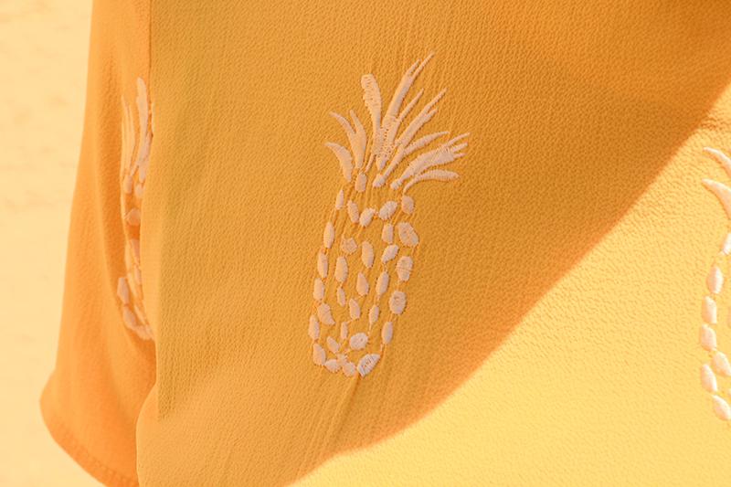 pepaloves robe ananas détails motifs