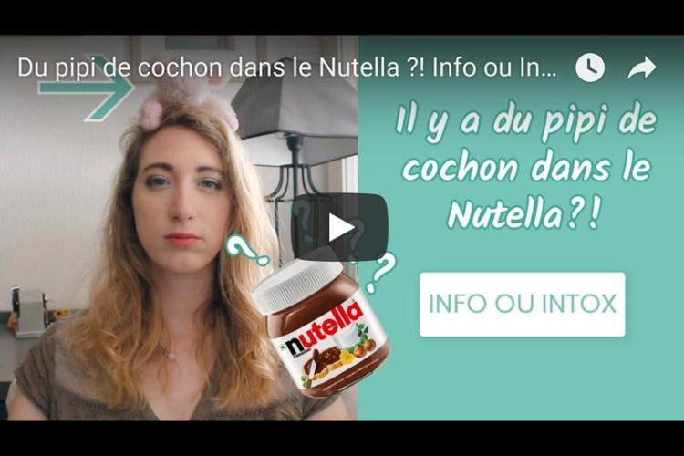 info ou intox nutella vegan