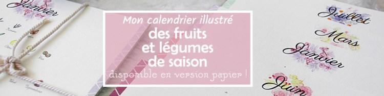 calendrier de fruits et légumes de saison illustré