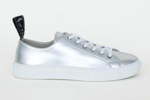 basket sans cuir vegan sneakers argentés