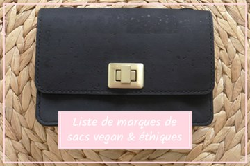 liste de marques de sac vegan ethique sans cuir ecologique slow fashion