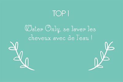 water only lavage cheveux