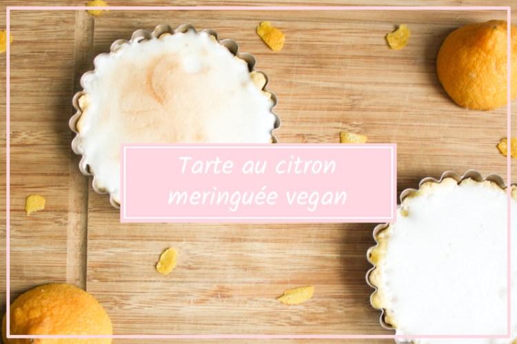 tarte au citron vegan meringuee