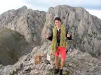L'Octavi, al cim del Pollegó Inferior (que trepitjava per primer cop), més content que un gínjol