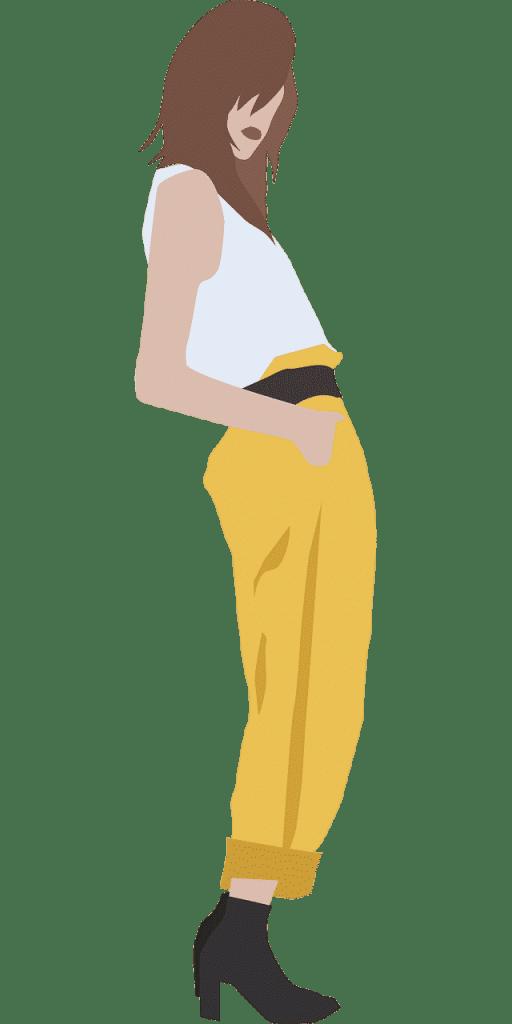 métrage de tissu pour un pantalon