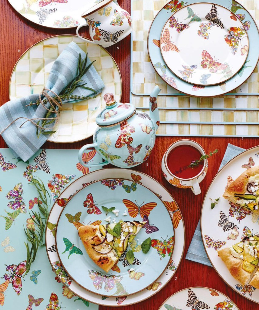 Tableware with Butterflies