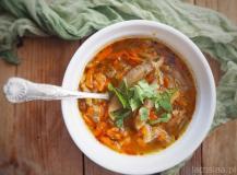 Zupa z boczniaków a'la flaczki