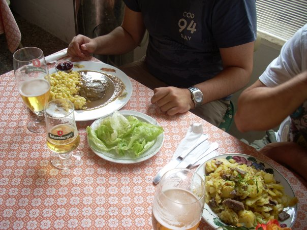 Gulash con carne estofada