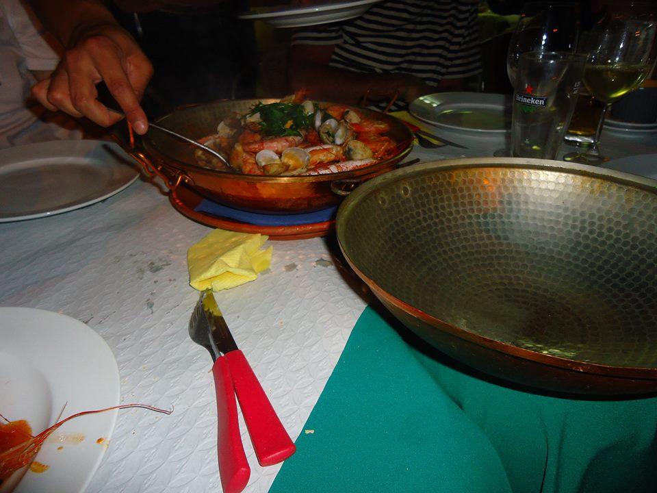 Cataplana de marisco en El Algarve