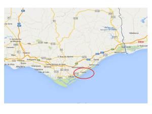 Mapa del Algarve