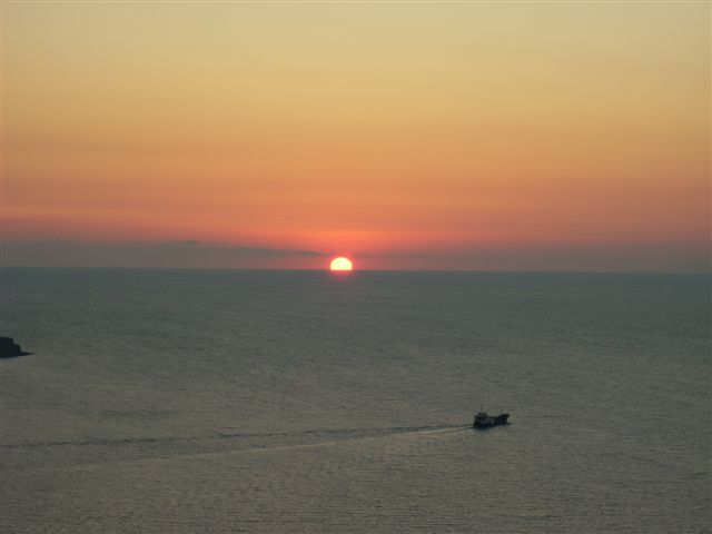Puesta de sol en Santorini