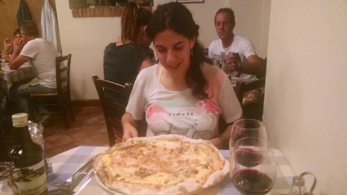 Para cenar, pizza
