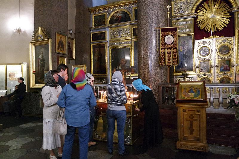 Interior de la catedral de Kazán
