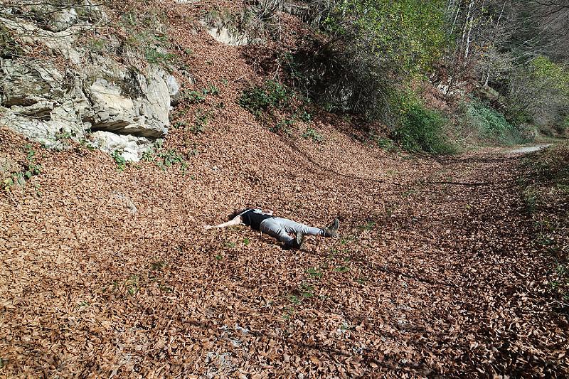 Mi cama de hojas en la Selva de Irati