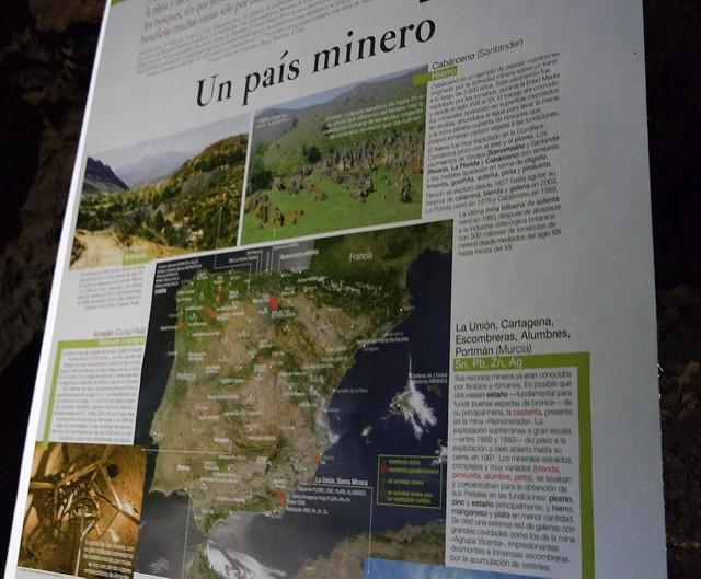 Cartel en las minas de Olmos de Atapuerca, Burgos