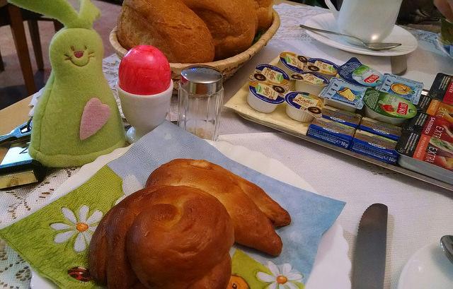 Desayuno de domingo de Pascua