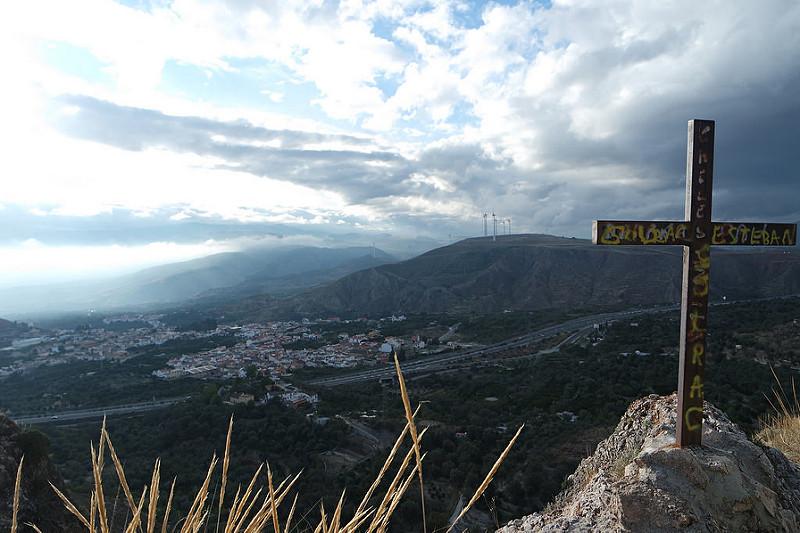El valle de Lecrín desde el castillo de Soraya