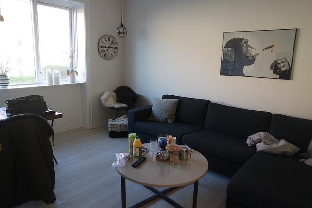 Mesa lista para desayunar en nuestro apartamento,Copenhague lowcost