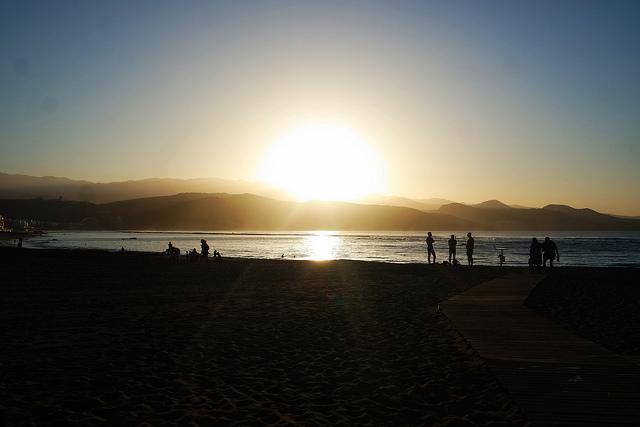 Playa de Las Canteras en diciembre, Las Palmas de Gran Canaria