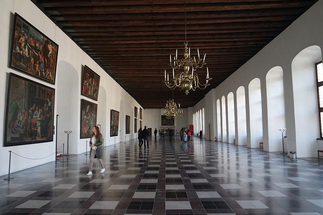 Salón de baile, el castillo de Hamlet