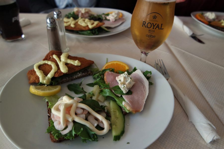 Típico sandwich danés