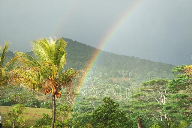Arcoiris en isla Mauricio