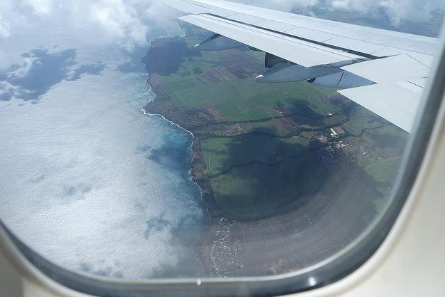 Mauricio desde el aire